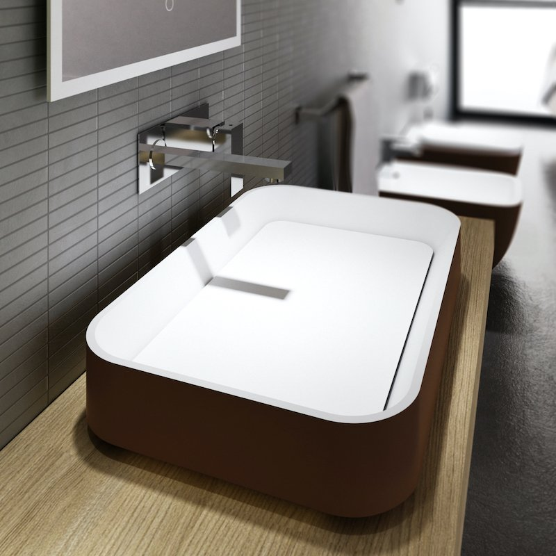 Solid surface Countertop basin Italian Design