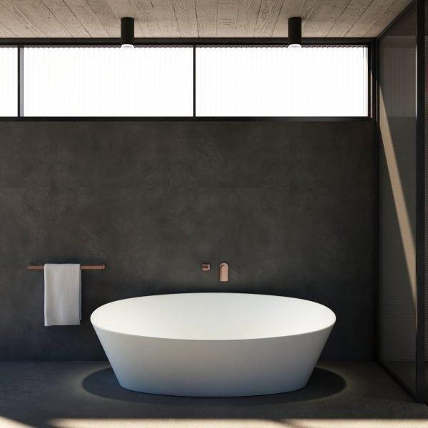 Solid surface freestanding bathtub Italian Design