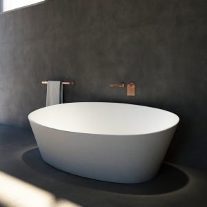 Solid surface freestanding bathtub Italian Design